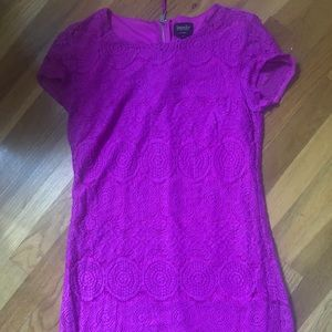 Purple lace overlay dress - gorgeous!! EUC